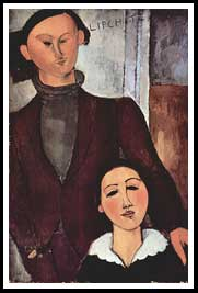 Amedeo Modigliani - Portrait of Jacob and Bertha Lipszyc
